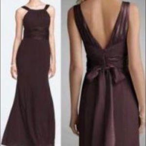 🤩 David's Bridal Chiffon & Charmeuse Formal Dress